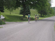 Cyclists on Rush Fork